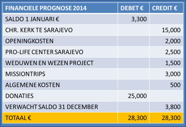 FINANCIELE 2014 PROGNOZE